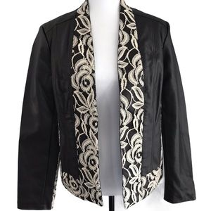 Yvonne Marie for Revue Brown Faux Leather Jacket